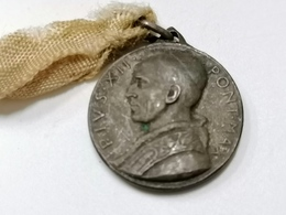 PIUS  XII   PIO    Pont. Max Pope  Papal Papa   Med Medaglia   Religione    Insigne Religieux Médaille Religieuse - Religión & Esoterismo