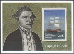 Congo 2001 OBCn° Bloc 189 Yvertn° Bloc 66X *** MNH Yvertcote 11,00 Euro Bateaux Ships Boten - Bateaux