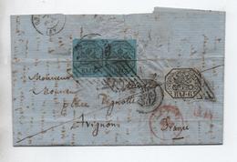 ETATS DE L'EGLISE / ETATS PONTIFICAUX - 1857 - LETTRE De ROMA Pour AVIGNON (VAUCLUSE) - Estados Pontificados