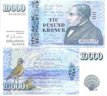 Iceland P-61 10 000 Kronur 2001 UNC - Island