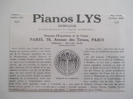 Année (1925) HONFLEUR   - Manufacture De PIANOS LYS  - Ancienne Coupure De Presse - Instruments De Musique