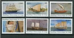 Congo 2001 OBCn° 2002-2007 Yvertn° 1522GV-1522HA *** MNH Yvertcote 16,50 Euro Bateaux Ships Boten - Ships