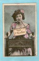 Jeune Femme -Vive St-Nicolas - Paillettes - BERGERET - - Femmes