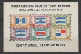 Guatemala 1938 Central America Countries Flags Mini Sheet. Unmounted Mint. - Guatemala