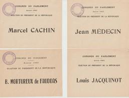 France Bulletins De Vote Du Congrès Du Parlement 1953 - Vecchi Documenti