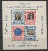 Guatemala 1938 150th Anniversary Of US Constitution Mini Sheet. Unmounted Mint. - Guatemala