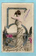 Jolie Jeune Femme - Paillettes -  Chiffre  Cinq - (Reutlinger Paris) - - Femmes