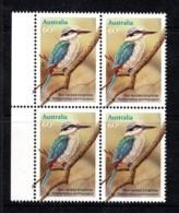 Australia 2010 Kingfishers 60c Red-backed Kingfisher Block Of 4 MNH - Neufs