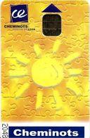 CARTE A PUCE CHIP CARD TRANSPORT ?? AUTRE USAGE  CHEMINOTS RÉGION LYON - Autres