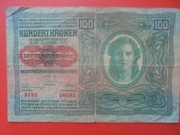 AUTRICHE 100 KRONEN 1912 CIRCULER (B.5) - Austria