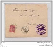 Pli (vétérinaire Dupont à Mons) Obl.Mons 31.12.03 +  Harmignies 01.01.04 - 1893-1900 Fine Barbe
