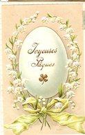 CPA  -  Embossée Ou Gaufrée  - Joyeuses Pâques  - écrite - Easter