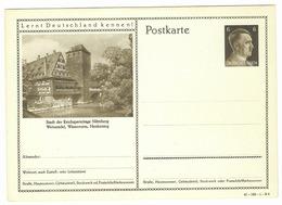 Entier Postal  - Nürnberg  Stadt Der Reichsparteitage  - Epoque Du NSDAP - Guerre 1939-45