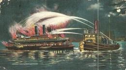 ( NEW YORK   )  ( MARINS POMPIERS  )PLAGE DE  TRESTRAOU - Sapeurs-Pompiers