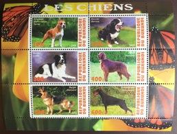 Burundi 2009 Cinderella Dogs Sheetlet MNH - Perros
