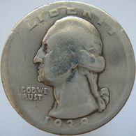 LaZooRo: United States Of America 1/4 Dollar 1938 VG - Silver - Émissions Fédérales