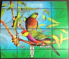 Malawi 2011 Cinderella Birds Parrots Minisheet MNH - Vögel