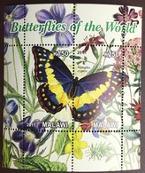 Malawi 2011 Cinderella Butterflies Minisheet MNH - Farfalle