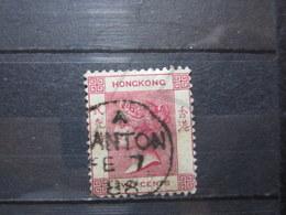 """VEND BEAU TIMBRE DE HONG-KONG N° 33 , OBLITERATION """" CANTON """" !!! - Gebruikt"""