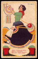 STUART CARVALHAIS Postal Antigo COSTUMES ARRAIAL Lisboa ?. Old Vintage Postcard Artist Signed. Portugal 1920s - Lisboa