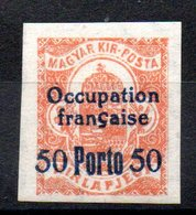 HONGRIE ARAD - YT Taxe N° 4 - Signé - Neuf ** - MNH - Cote: 4,60 € - Hongrie (1919)