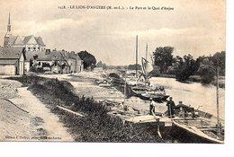 CPA LE LION D'ANGERS (Maine Et Loire) Le Port Et Le Quai D'Anjou - France