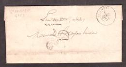 LAC - 1er Février 1851 - St Ambroix (Gard) Pour La Voulte (Ardèche) - Port Dû Taxe 25 - 1849-1876: Periodo Clásico