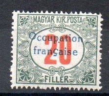 HONGRIE ARAD - YT Taxe N° 10 - Signé - Neuf ** - MNH - Cote: 7,80 € - Hongrie (1919)