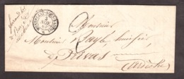 LAC - 3 Nov 1849 - Montpezat Sous Bauzon (Ardèche) Pour Privas - Port Dû Taxe Façon Manuscrite 2 Décimes - 1849-1876: Periodo Clásico