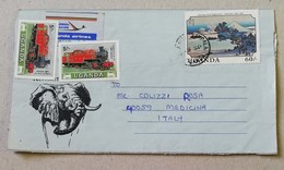 Busta Per Via Aerea Kampala-Medicina (BO, Ita) - 27/09/1989 - Uganda (1962-...)