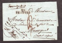 LAC - 1810 - Juge De Paix Pour Commissaire De Police - Linéaire 89 Pertuis (Vaucluse) PD 4 Déc à Manosque (Basses Alpes) - 1801-1848: Précurseurs XIX