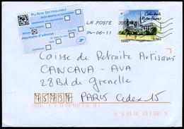 """N°YT 4515 - Notre-Dame-de-Paris - Sticker """"PLI NON DISTRIBUABLE"""" - 1961-...."""