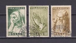 Saarland - 1955 - Michel Nr. 365/367 - Gest. - 1947-56 Allierte Besetzung