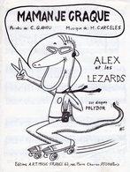 PARTITION MAMAN JE CRAQUE PAR  ALEX ET LES LEZARDS - 1981 - TRES BON ETAT - - Musique & Instruments