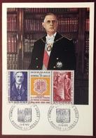 ANDCM9 Andorre Hommage Général De Gaulle 225A 23/10/1972 Premier Jour Carte Maximum - Maximum Cards