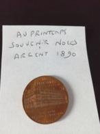 Jeton Jules Jaluzot Au Printemps 1865 1890 Souvenir Des Noces D Argent 3 Novembre 1890  en L Etat Sur Les Photos - France