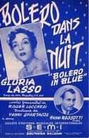 PARTITION BOLERO DANS LA NUIT / BOLERO IN BLUE PAR GLORIA LASSO - 1954 - EXC ETAT PROCHE DU NEUF - - Musique & Instruments