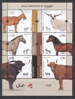 Portugal 2020 Raças Autóctones Cavalo Cabra Ovelha Touro Vaca Horse Goat Sheep Bull Cow Portuguese Autochtonous Breeds - Briefmarken