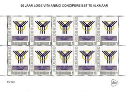 Personalised Masonic Stamps, Nederland, Velletje 50 Jaar V.A.C.E. (Vrijmetselarij-Freemasonry-Freimaurerei) - Franc-Maçonnerie