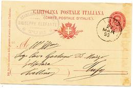 1895 TURI  BARI CERCHIO + ELEFANTE STABILIMENTO ENOLOGICO VINO - 1878-00 Umberto I