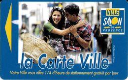 CARTE DE STATIONNEMENT A BANDE MAGNÉTIQUE VILLE DE SALON DE PROVENCE 13 BOUCHES DU RHONE  LA CARTE VILLE - Francia