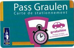 CARTE DE STATIONNEMENT A BANDE MAGNÉTIQUE VILLE DU GRAU DU ROI 13 BOUCHES DU RHONE  PASS GRAULEN - Francia