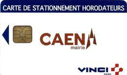 CARTE DE STATIONNEMENT A PUCE CHIP CARD VILLE DE CAEN 14 CALVADOS - Francia
