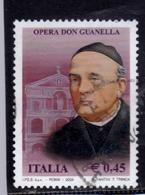 ITALIA REPUBBLICA ITALY REPUBLIC 2004 OPERA DON GUANELLA USATO USED OBLITERE' - 2001-10: Usados