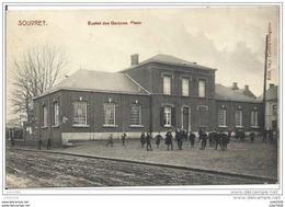 SOUVRET..--  Ecoles Des Garçons . 1912 Vers FAMILLEUREUX ( Mr GUILLAIN , Bourgmestre ) . Voir Verso - Courcelles