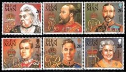 Isle Of Man 1999 Yvert 854-859, Royals. 20th Century British Queens & Kings - MNH - Man (Insel)
