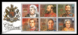 Isle Of Man 1999 Yvert 854-859, Royals. 20th Century British Queens & Kings - Miniature Sheet - MNH - Man (Insel)
