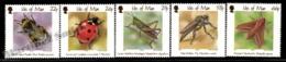 Isle Of Man 2001 Yvert 945-949, Fauna. Insects Drawings - MNH - Man (Eiland)