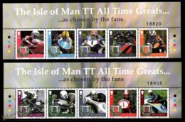 Isle Of Man 2007 Yvert 1362-1371, Sports. Motorcycle Racing, Tourist Trophy Centenary. Border - MNH - 1952-.... (Elizabeth II)