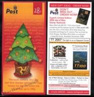 Isle Of Man 2006 Yvert C1360, Christmas. Christmas Tree With Triskelion (Pink) - Booklet - MNH - 1952-.... (Elizabeth II)